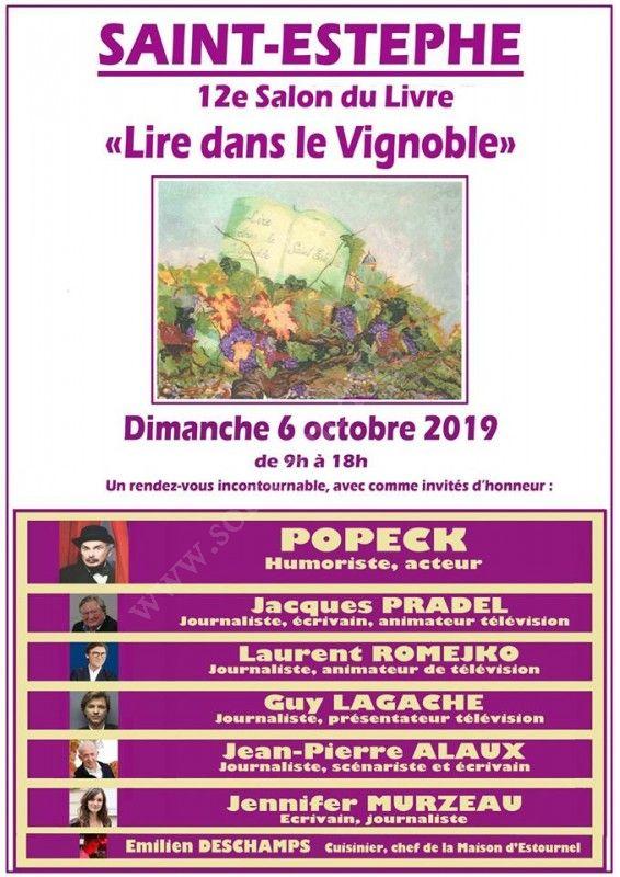 """Salon """"Lire dans le vignoble"""" à Saint Estèphe octobre 2019"""