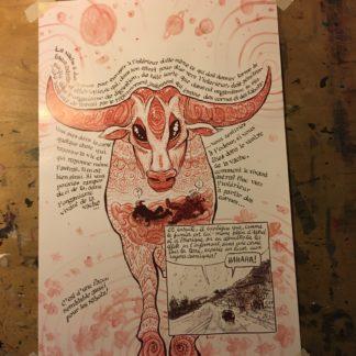 Poster CosmoBacchus Lucifer Vache Cosmique