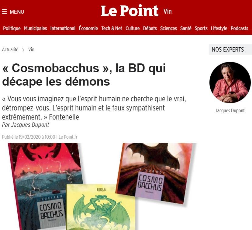Le Point : CosmoBacchus, la BD qui décape les démons !